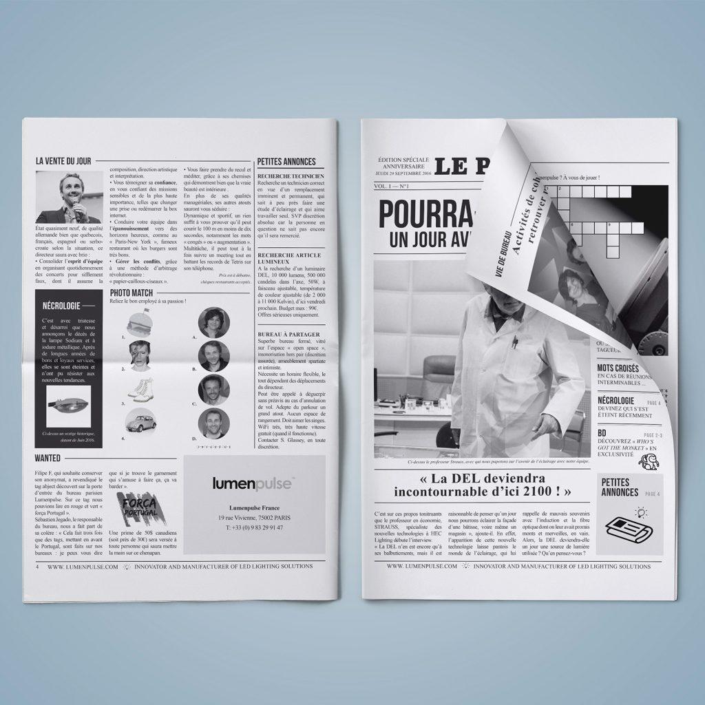 Journal humoristique créé pour Lumenpulse